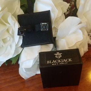 Black Jack Men's Onyx Stud Earrings 1 pair